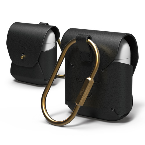 Airpods Case / genuine leather -  Black