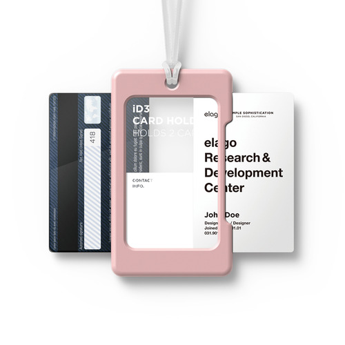 ID3 ID Card Holder - Lovely Pink+Frosted white