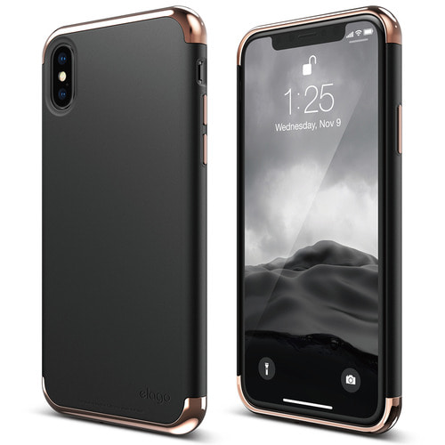 SX Empire case for iPhone X - Rose Gold+Black