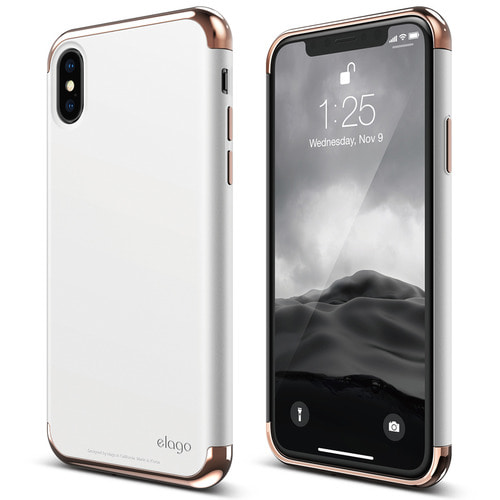 SX Empire case for iPhone X - Rose Gold+White