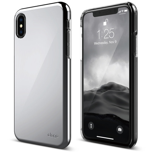 SX Slim Fit 2 case for iPhone X - Chrome Silver