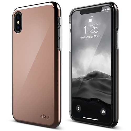 IPhone X Slim Fit 2 case - Chrome Rose Gold