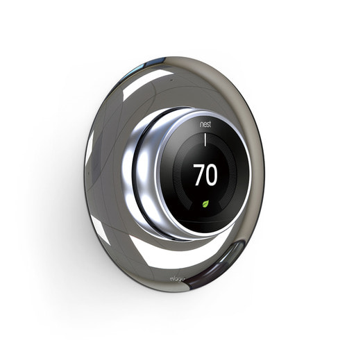 NEST Thermostat Wall Plate Hard Cover -Chrome