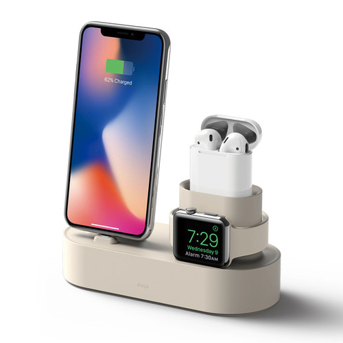 Iphone,Airpods,Apple watch 3 IN 1  charging stand -Classic White