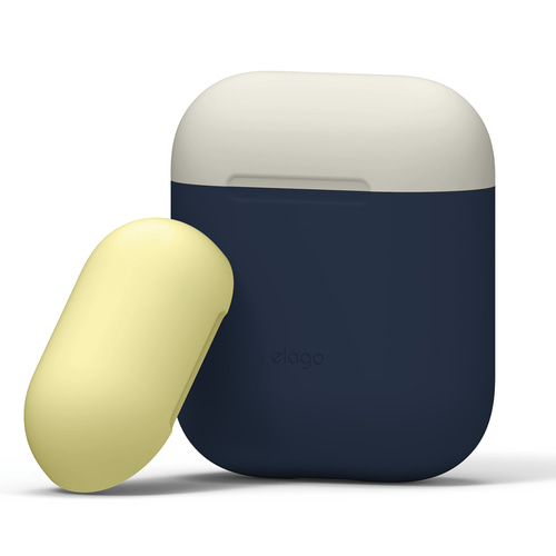Airpods Duo Case / Jean Indigo+Classic White,Creamy Yellow