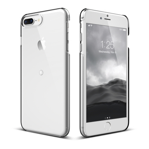 [elago  X  HE WAS BORN] Smart spinner case for iPhone 8 plus- Crystal Clear