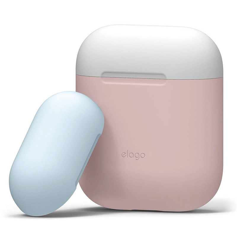 Airpods Duo Case / Lovely Pink+White,Pastel Blue