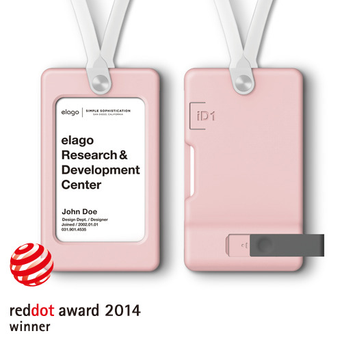 iD1 USB ID Card Holder / Lovely Pink (not included USB Flash Drive)