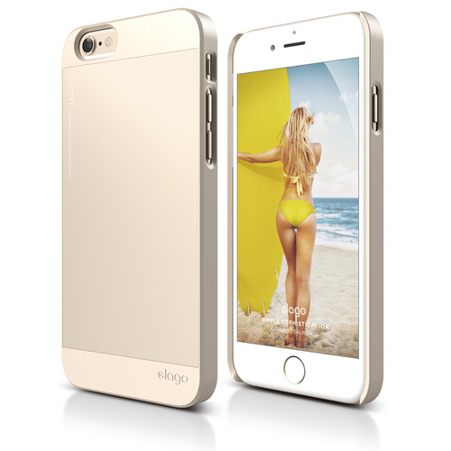 S6P(플러스) Outfit Aluminum Case for iPhone 6 Plus(필름포함) / Champagne Gold + Champagne Gold