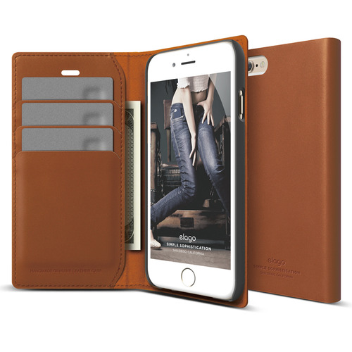 S6P(플러스) Genuine leather wallet case for iPhone 6 /6S Plus (필름포함/천연가죽)/Brown
